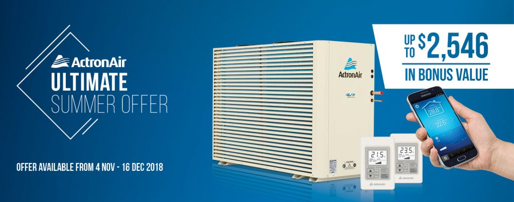 ActronAir Ultimate Summer Offer available at Needhamair